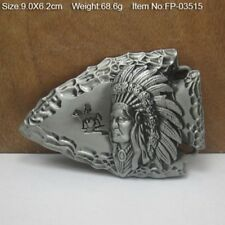 Retro Style Native American Ancient India Hunting Belt Buckle Mens Jewelry Gift