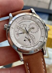 Jaeger Lecoultre Master Geographic 142.8.89 Automatic 24 City Men's Steel Watch