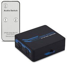 kwmobile Toslink SPDIF Verteiler 2x1 Switch IR Fernbedienung HiFi