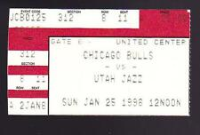 Jan 25 1998 Chicago Bulls vs Utah Jazz Ticket Stub Michael Jordan 32 Malone 35