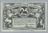 Notgeld -  Lüneburg - Stadt Lüneburg - 25 Pfennig - 1920 - Schütting und Brunnen