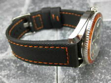 24mm PVC Composite Rubber Band Black Diver Watch Strap Marataac Orange PAM 1950