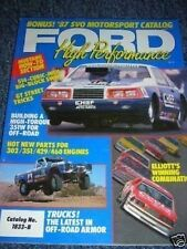 1987 FORD MUSTANG MOTORSPORT SVO HIGH PERFORMANCE BOOK