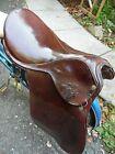 English Vintage Brown Leather Horse Saddle Cowboy Western Equestrian