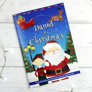 Personalised Boys It's Christmas Story Book Santa Elf Magic Softback Gift Idea