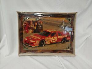 "NASCAR Vintage Wood Wall Clock #15 Morgan Shepard 18.5""x13.5"" New Sealed!  NOS"