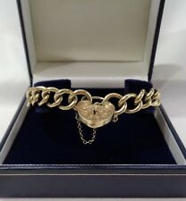 Vintage c.1972 Heavy 9ct Yellow Gold Charm Bracelet - 37.6 Grams