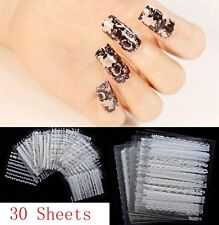 30 Sheets 3D Flower Lace Nail Art Water Transfer Decals Stickers Tips Decoration