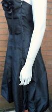 stunning dress black LBD sleeveless balloon bubble hem detachable corsage 12