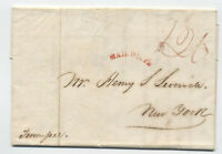 "1829 ""mail route"" auxiliary stampless folded letter New Orleans NYC [5246.539]"