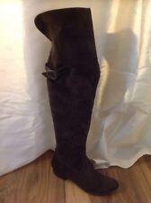 Tamaris Brown Over Knee Suede Boots Size 40