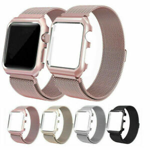 Milanese Metal Strap Band With Bumper Case For Apple Watch Series 6 5 4 3 2 1 SE