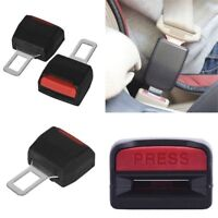2X Universal Car Safety Seat Belt Buckle Clip Extension Extender Alarm Stopper
