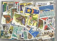 Lot 500  timbres de Belgique