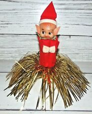 Vintage Christmas Pixie Elf Knee Hugger Ornament Tree Topper