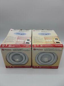 Utilitech Recessed White 3 inch 50W GU10 Gimbal Kit Lighting Kit 16059 Lot of 2