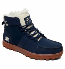 DC SHOES SKATE WOODLAND SHERPA-LINED WINTER BOOT ADYB700027 NAV MENS UK 9 - 12