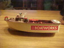 """The Boatworks Toy Boat, Vintagel Ideal Harbor Launch Boat Toys 15"""""""