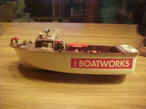 """Vintagel Ideal Harbor Launch Boat Toys 15"""", The Boatworks Toy Boat"""