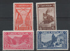 1939 TURKEY ANKARA-ERZURUM RAILWAY RAILROADTRAIN COMPLETE SET MNH**