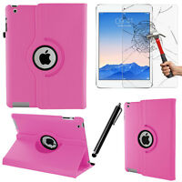Light Pink 360 Leather Case Cover Folio Folding Smart Stand For Apple iPad 2/3/4