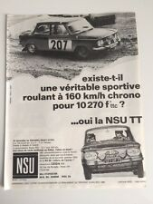 NSU TT - 1968 // PUBLICITE PAPIER MAGAZINE PRESSE COUPURE PUBLICITAIRE