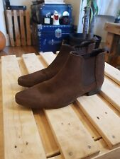 Asos Suede Chelsea Boots Brown Mens Size Uk 6