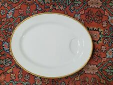 Theodore Haviland Limoges France Gold Border Ivory China Meat Platter 15 3/4""