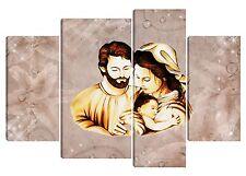 Quadro moderno Sacra Famiglia Gesù Madonna 90X130 tela canvas stampa testata Dio