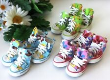 USA SELLER Dog Puppy SET of 4 Shoes Boots Sneakers Pink Blue Green Flowers