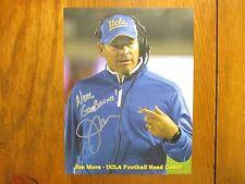 JIM  L.  MORA (UCLA  BRUINS/ATLANTA  FALCONS) Signed  8 1/2  x 11  Color   Photo