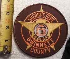 GWINNETT COUNTY GEORGIA SHERIFF PATCH (HIGHWAY PATROL, SHERIFF, EMS, STATE)