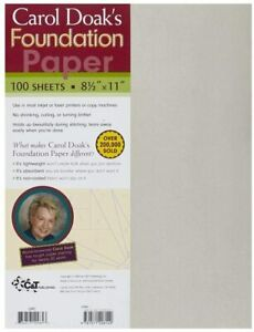 "Carol Doak's foundation paper 100 sheets 8½"" x 11"" inkjet or laser printers"
