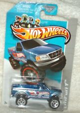 Hot Wheels 2013 HW City Works Ford F-150 4x4 blue,chrome int,excellent card