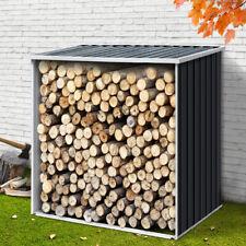 Outdoor Log Shed Firewood Storage Galvanised Steel Garden Room Wood Store Dry