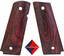 1911 Grips Full Size Thin Red Cocobolo Beveled Bottom Smooth No Ambi Cut