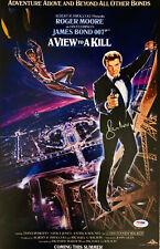 Roger Moore Signed James Bond 007 Movie Poster Photo 11 x 17 - PSA DNA COA 6