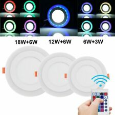 Dual Color White + Rgb Led Ceiling Light Fans Recessed Panel Downlight Spot Lamp