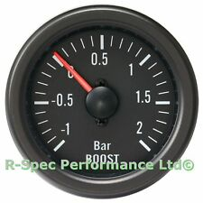 52 mm Black Face/Clear Lens Mechanical Turbo Boost Pressure Gauge Kit-Bar