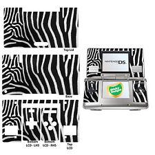 Zebra Pelliccia Mimetico Stile - Autoadesivo Sottile Vinile per Nintendo Ds