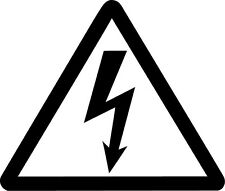 High Voltage Symbol Vinyl Sticker Decal JDM Electric Danger Choose Size & Color