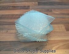 10  Sheets of Bullseye 3mm Clear Tekta Kiln Fusing Glass 10cm x 10cm (3CT01)