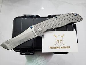 custom norseman flipper mirror m390 blade titanium tactical camping pocket knife