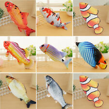 Moving Cat Kicker Fish Toy Pets USB Electric Realistic Interactive Flopping Fish