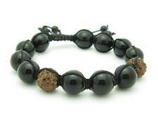 Shamballa Design Macrame Orange Crystal Bead Stackable Bracelet Unique Gift Idea