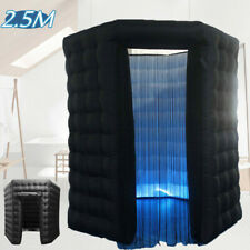 2.5M 220V Inflatable LED Light Air Pump Photo Booth Tent Wedding Birthday Black