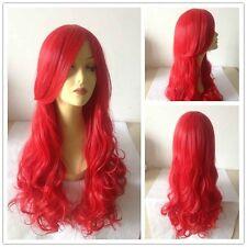 The Little Mermaid Prinzessin Ariel Cosplay Perücke Rot locken lange wellig Haar