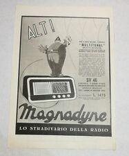 Pubblicità 1939 RADIO MAGNADYNE SV46 advertising publicitè reklame publicité
