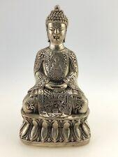 BUDDHA SEHR FILIGRANE METALL SKULPTUR