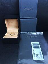 Bvlgari Wedding Ring 18k Yellow Gold AN214701 328363 Ring Sz 10.75MSRP $700